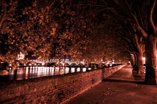 La Daurade's Quay, Toulouse by Night