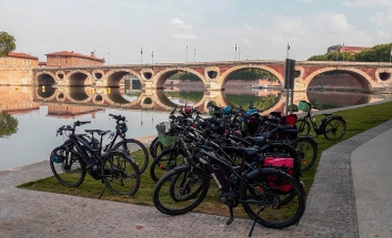Garonne river banks